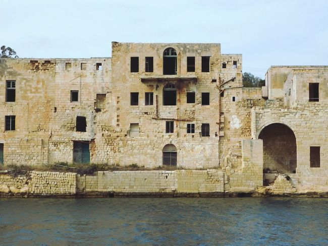 Old Buildings Happy Day Summer Holiday Enjoying Life Summertime Hello World SO FUN Happy Look Shipping  Boat Trip Trip Built Structure Architecture Building Exterior Sky Building Clear Sky Water History No People Old Window Day Wall