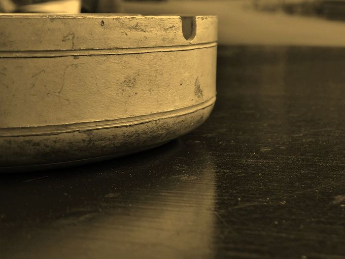 Ashtray  Aluminium Metal Steel Black & White Blackandwhite Blurred Background Close-up Depht Of Field Detail Dirty Focus On Foreground Monochrome Old-fashioned Part Of Pattern Selective Focus Sepia Sepia_collection Simplicity Single Object Table Macro_collection The Architect - 2016 EyeEm Awards