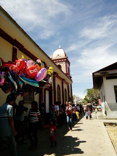 Feast Day People People Photography Balloons Church Faith Fiesta Philippines Photos People And Places EyeEm Diversity