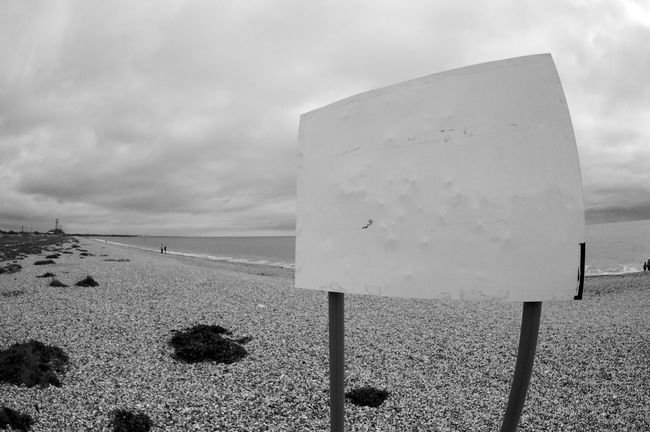 Untitled Black & White Saying Nothing Sign Beach Blackandwhite Close-up Communication Day Grass Landscape Nature Outdoors Sand Sky Untitled