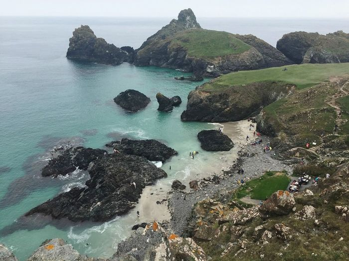turquoise kynance Rocky Coastline Geology Turquoise Water Kynance Cove Up Above Aerial View Water Sea Beach Sky Horizon Over Water Tide Low Tide Coastline Coast Calm Shore Rocky Coastline Coastal Feature Seascape 50 Ways Of Seeing: Gratitude