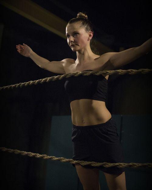Young Women Men Standing Females Ballet Ballet Dancer Dancing Dance Studio Stage Theater