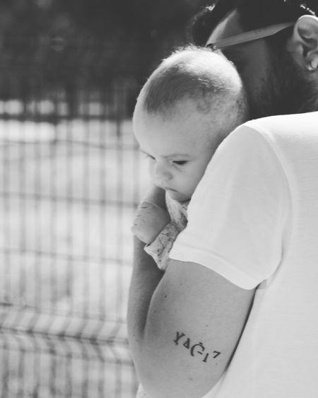 Yao Yağız Babyboy Father & Son Blackandwhite Tattoo