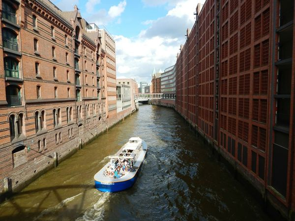 Architecture Building Exterior City Built Structure Outdoors Water Boat River Elbe River Hamburg Harbour Hamburger Hafen Hamburg The Graphic City Adventures In The City
