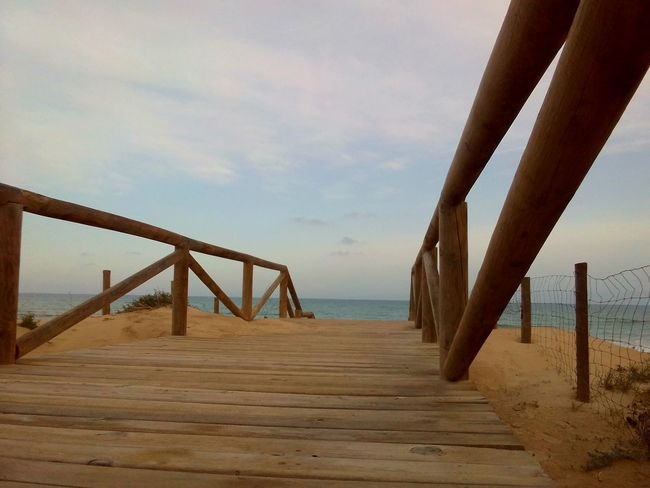 Stairway to the sea Costa Blanca Costa Blanca Holiday Spain_beautiful_landscapes Spain_vacations Spainphotographer Alicante Province Spain Bridge - Man Made Structure Beach Sand Water Sea Built Structure Sky Outdoors Travel Destinations Nature Day No People