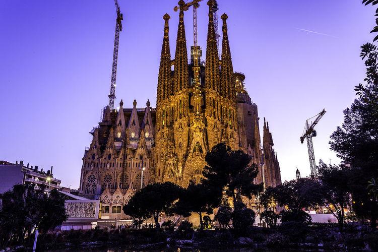 La Sagrada Familia Architecture Building Exterior Built Structure No People Place Of Worship Religion Spirituality Travel Destinations