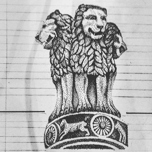 Late Republic day post Every dot makes one India A.C - @surbhi250296 Happyrepublicday Indiapictures India_gram Rotring Dot Rendaring Louiskhan Architecture Art Beautiful Archilovers Style In