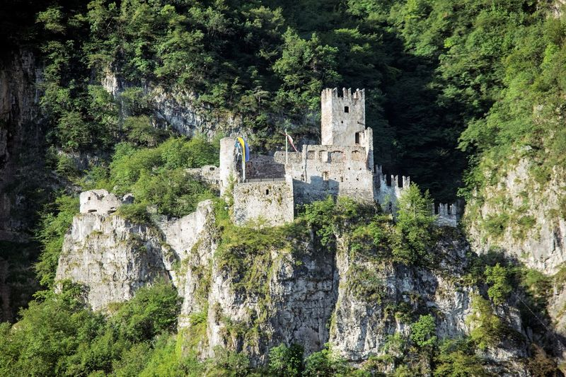 2017 208/365 Castle July 27 Trentino Alto Adige Ancient Ancient Civilization Architecture Building Exterior Built Structure Alto Adige Cliff Day Fortress History Italy Mountain Nature No People One Year Project Outdoors Rock - Object Salorno Travel Destinations Tree