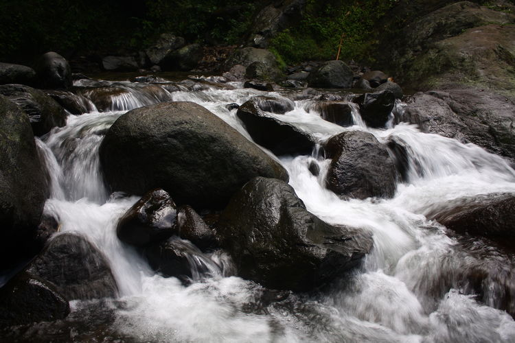 Rocky River Low Exposure Beauty In Nature Blurred Motion Day Forest Long Exposure Motion Nature No People Outdoors River Rock - Object Scenics Tranquil Scene Tranquility Water Waterfall