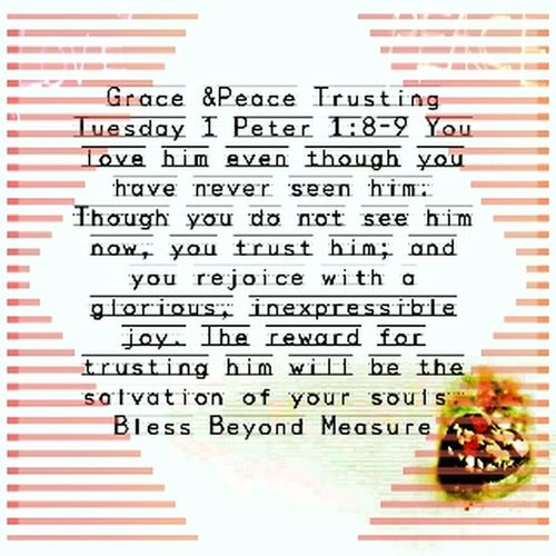 Grace & Peace Trusting Tuesday