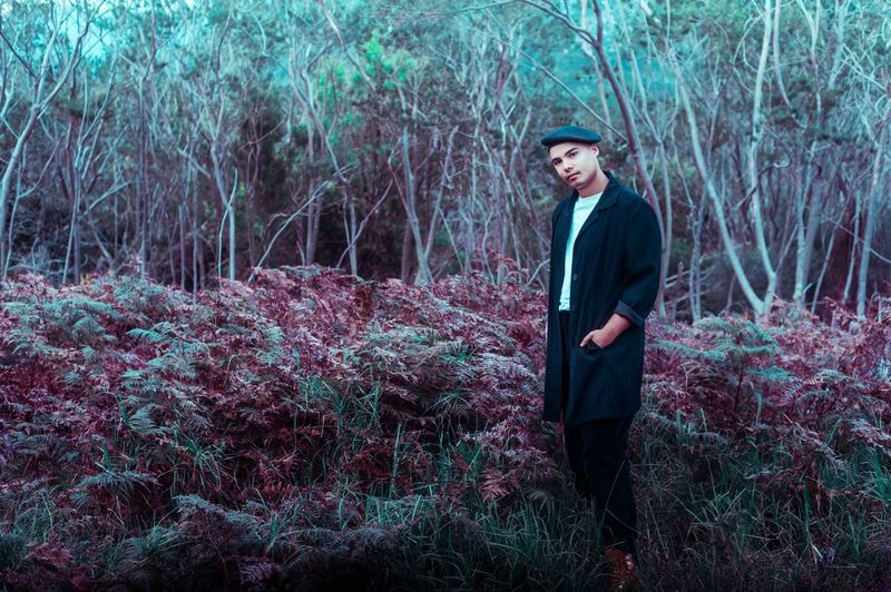 Jimmy Nevis Plant One Person Standing Young Adult Nature Men Looking Away Three Quarter Length Outdoors Leisure Activity Forest Front View Lifestyles Real People Field Contemplation Growth
