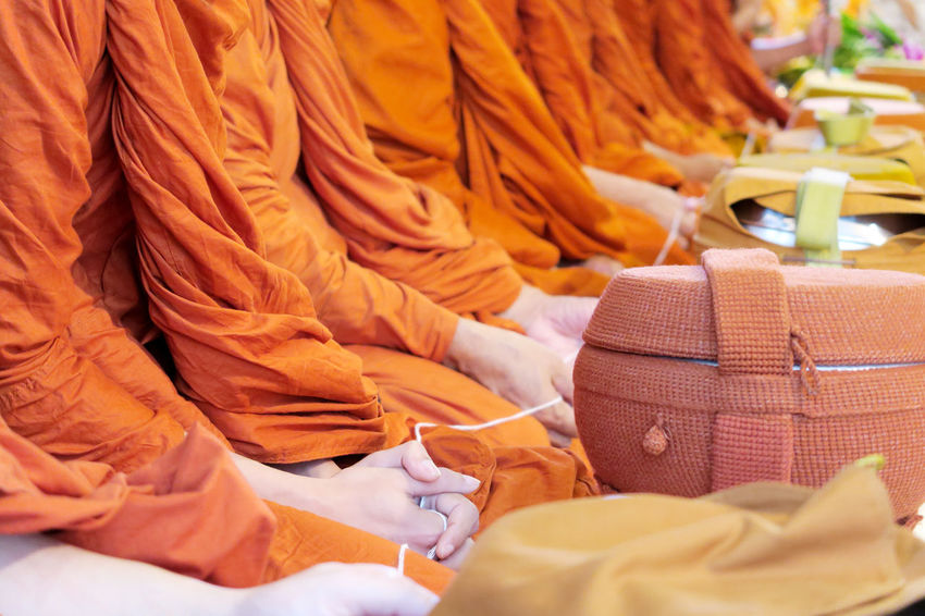 Pray, the monks and religious rituals in thai ceremony Asian  Asian Culture Buddha Buddhist Pray Religion And Tradition Thailand Buddhism Buddhist Temple Culture Monk  Monk Budhist Prayer Monk Robe Praying Religion Religion And Beliefs Temple