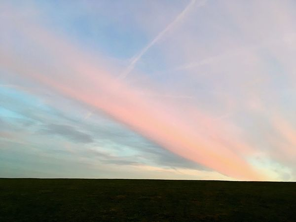 Sky Nature Sunset Scenics Landscape Outdoors Beauty In Nature No People Tranquil Scene Cloud - Sky Day Northern Germany Frisia Colors