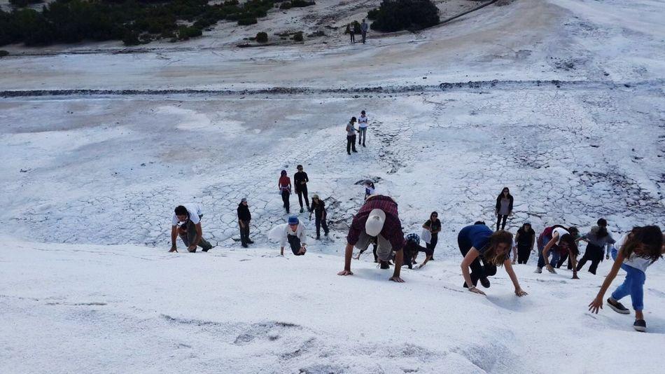 Climbing Salt Mountain University Trip Travelling