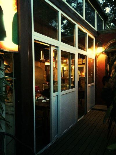 Dinner Window Pizza Street Photography