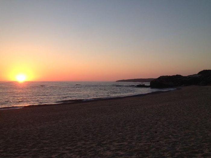 Nofilter#noedit Sunonthewater Sunset Relaxing Milfontes Vilanovamilfontes First Eyeem Photo Ilovesunsets Portugal