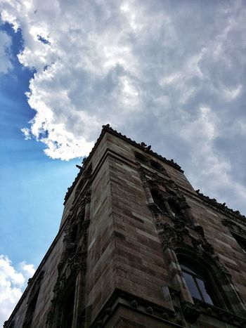 EyeEmNewHere Low Angle View Architecture Cloud - Sky Built Structure Sky Building Exterior Day History No People Outdoors Travel Destinations Pyramid Tree Ancient Civilization