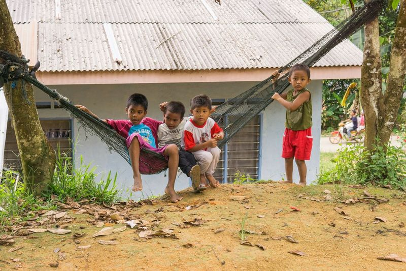 Chilling village kids Hamhock Kids Children Kid Friendship Togetherness Child Party - Social Event Men Boys Happiness Girls Women Group Of People Jungle Gym Swing Slide - Play Equipment Preschooler Seesaw Asian  First Eyeem Photo EyeEmNewHere Human Connection