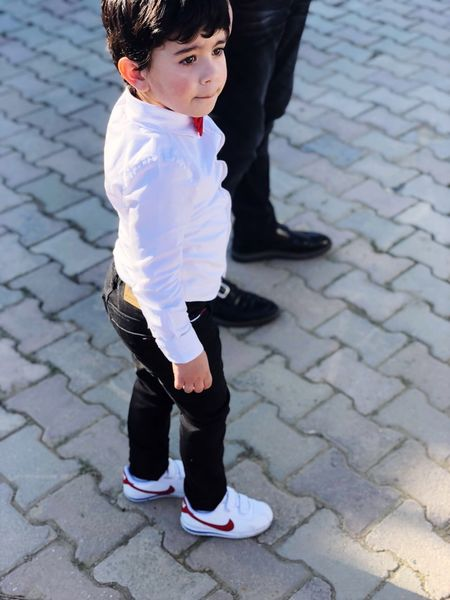 red cheek EyeEm Selects EyeEmNewHere One Person Childhood Full Length Child Standing Outdoors Day One Boy Only Children Only Shoe Front View Boys Casual Clothing