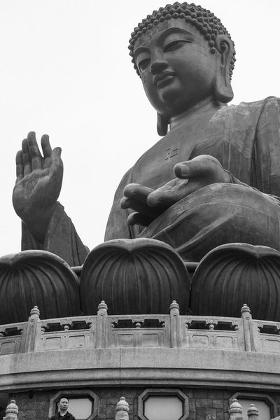 Tian Tan Buddha (Giant Buddha) 天壇大佛 Architecture Art And Craft Building Exterior Built Structure City Clear Sky Day History Human Representation Low Angle View Male Likeness Ngongping360 No People Outdoors Sculpture Sky Statue Tian Tan Tourism Travel Travel Destinations