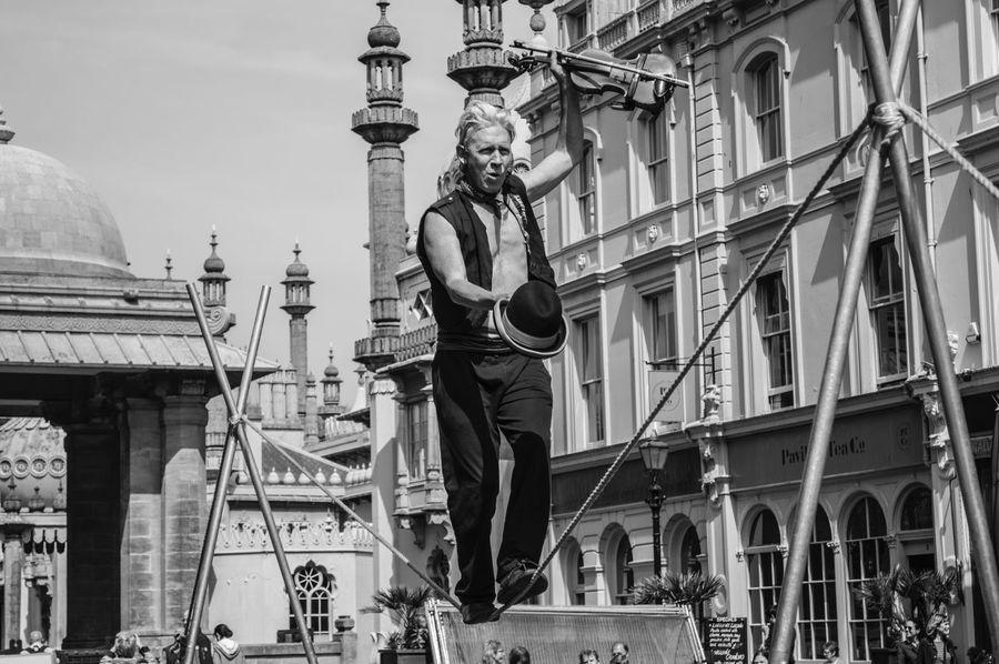 Violinist Acrobat Artist Artistic Blackandwhite Streetphotography Street Photography