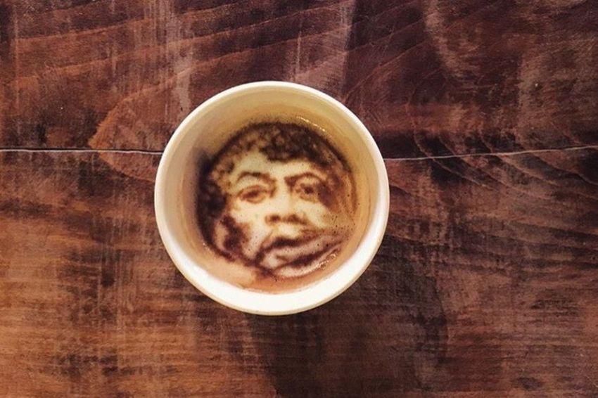Coffeekesh-My Work Coffeekesh Dadbeh Konjcafe Jimi Hendrix Jimihendrix Cafe Coffee Latte Latteart Art ArtWork Sketch Painting Portrait Espresso