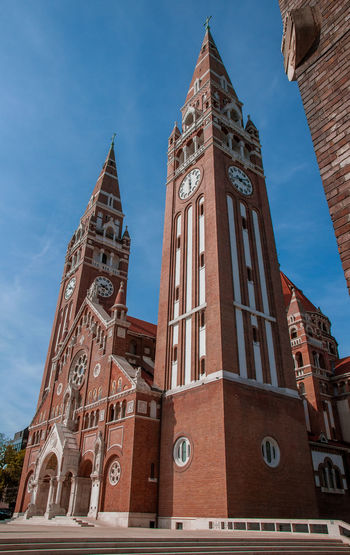 Szeged Dome Politics And Government Clock City Clock Face Business Finance And Industry History Finance Sky Architecture Building Exterior Clock Tower Tall - High Bell Tower Bell Tower - Tower Cathedral Tower Church