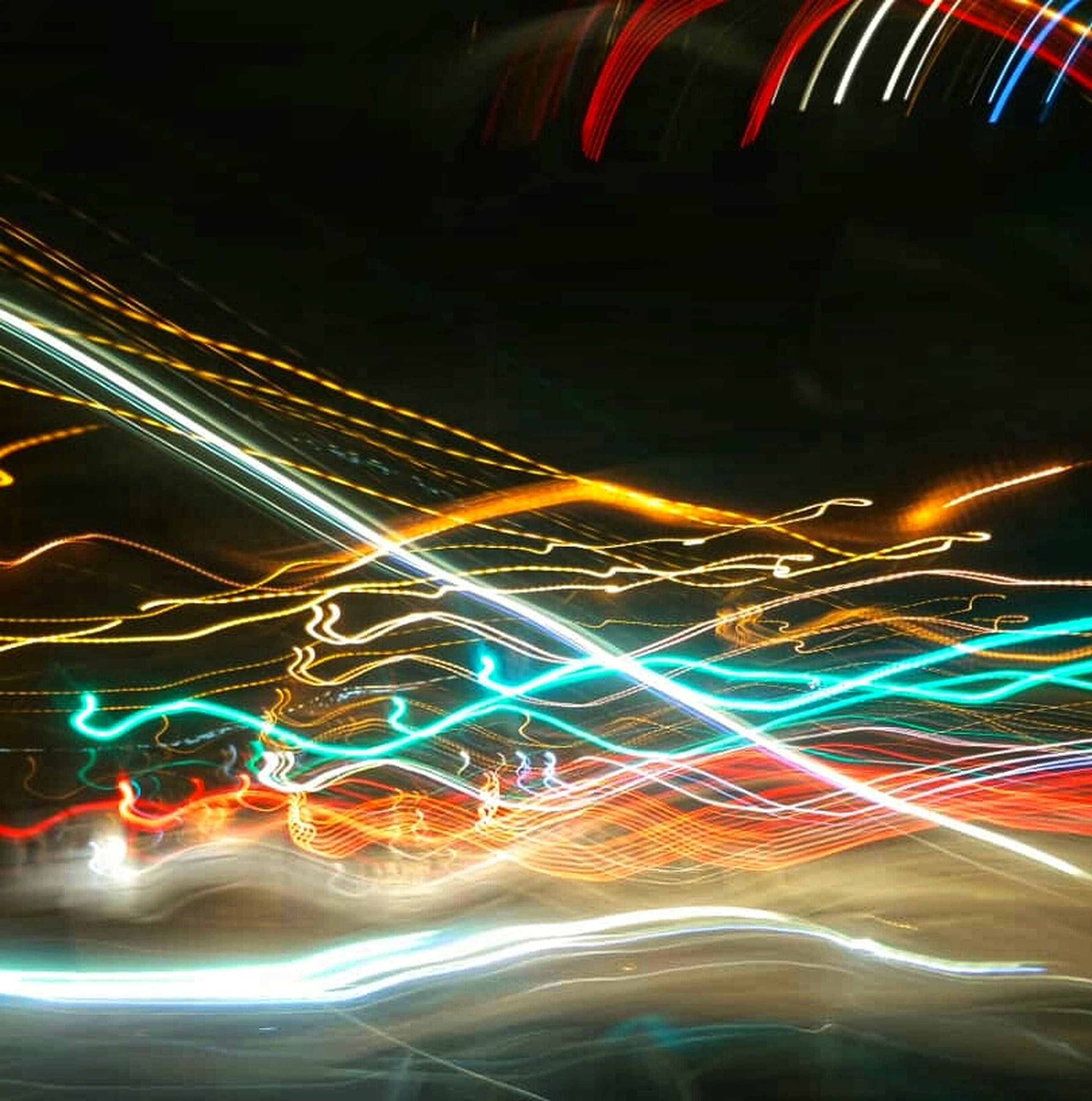 long exposure, motion, illuminated, speed, light trail, night, blurred motion, abstract, multi colored, technology, futuristic, data, no people, pattern, connection, light - natural phenomenon, glowing, wireless technology, communication, internet, flowing, fiber optic, complexity, black background
