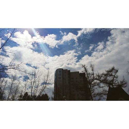 Instakhv Light Sky Sun khv khb khabarovsk beauty weather blue followme russia trees pretty goodmorning morning april spring