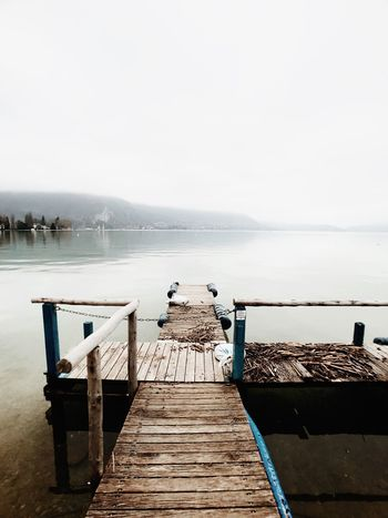 Annecy - 28.01.18 Lovelyview Lake View Lake Pier Sea Copy Space Jetty Beauty In Nature Winter No People Sky
