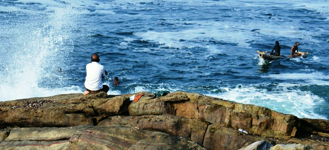 Waiting for the right time.... Sea Sealife Fisherman Solitude Hope Blue Water Working Hard Real People One Person Outdoors Nature