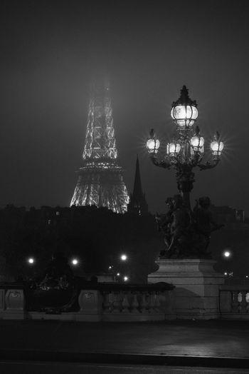 Nightphotography Monochrome Blackandwhite Cityscape Nikon D750 Samyang 135mm F/2.0 Vscofilm Longexposure Effel Tower