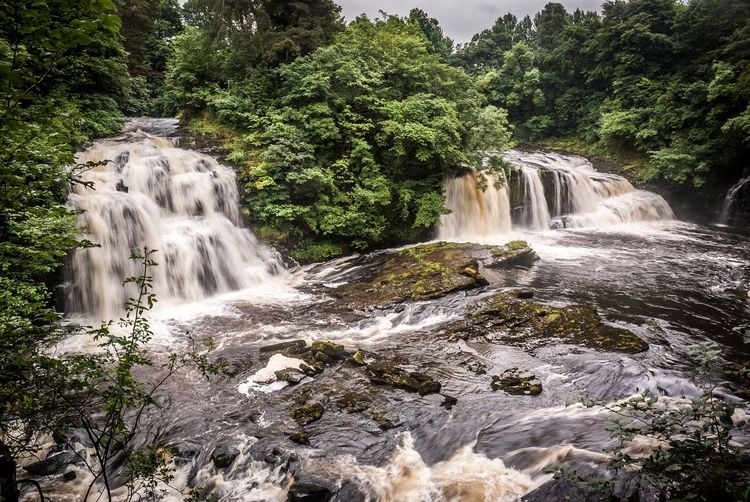 Eyeem Scotland  Scotland's Scenery Waterfall Water Tree Beauty In Nature Nature Scenics No People Landscape Forest Beauty Travel Destinations Day Outdoors Sky New Lanark