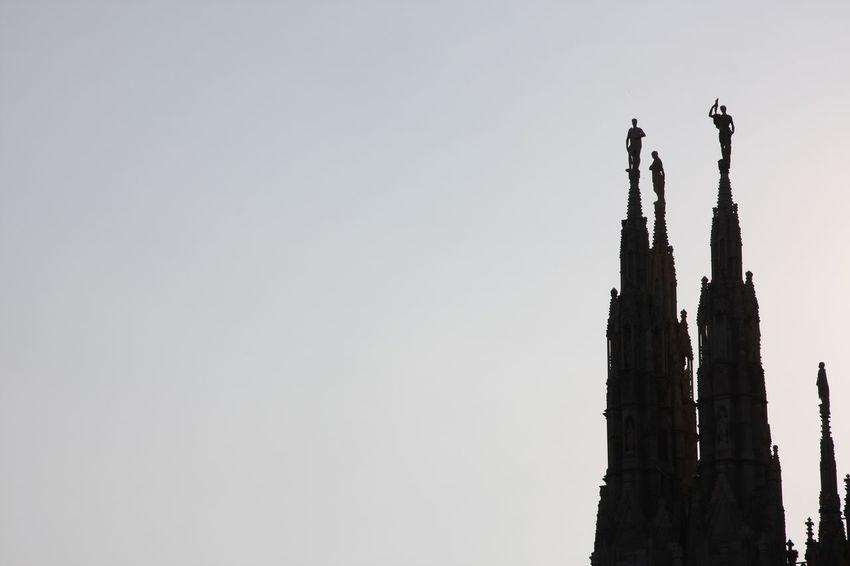 Architecture Contrast Duomo Di Milano Gothic Style Guglie History Milan Milano Silouette & Sky