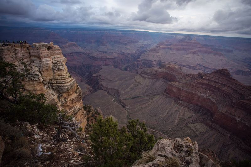 Overlook Canyon Arizona Grand Canyon Scenics - Nature Beauty In Nature Tranquil Scene Cloud - Sky Tranquility Landscape Rock Sky Environment Non-urban Scene Rock Formation Rock - Object Nature Geology Solid Mountain Physical Geography Land Day No People