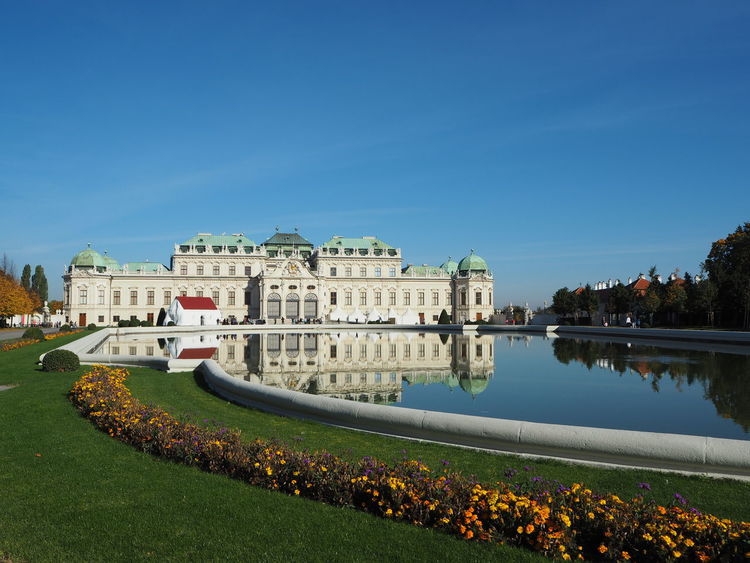 Belvedere palace, Vienna, Austria #architecture #flowers #nopeople #outdoors #palace