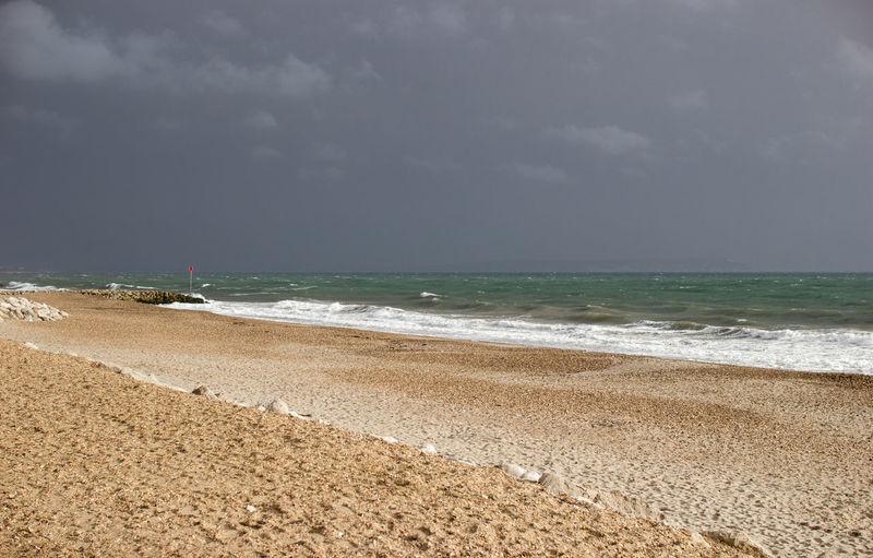 Highcliffe Beach Stormy Weather Beach Highcliffe