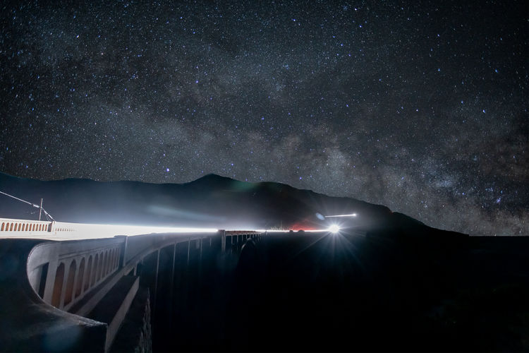 Bixby bridge under the stars milky way