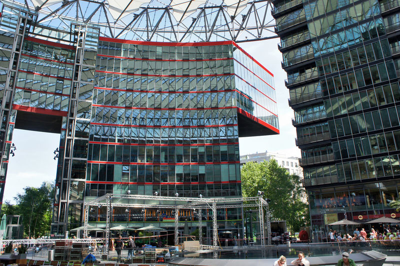 Modern buildings at potsdamer platz