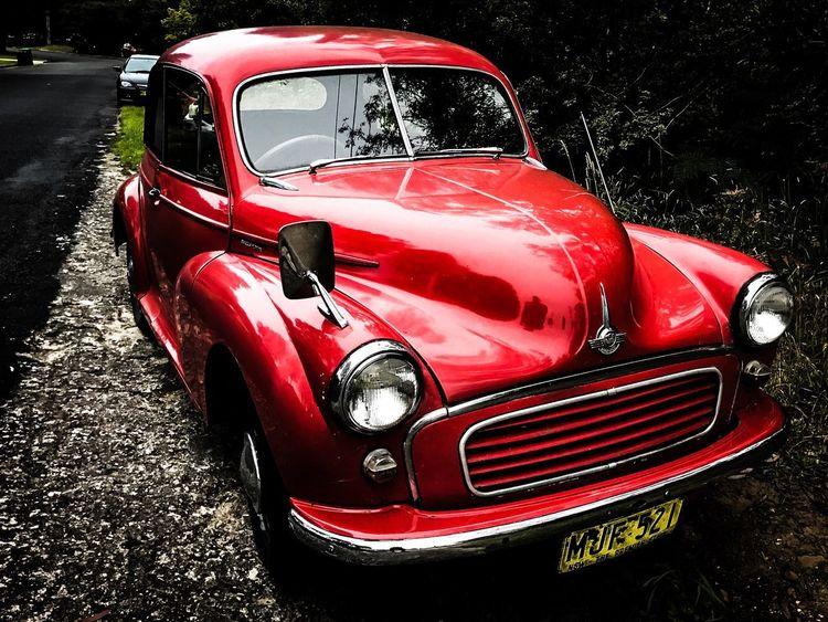 Old school: Morris Minor EyeEm Best Shots EyeEm Car Morris Minor 1000 Red Outdoors No People Day Close-up