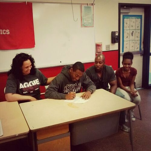My Son Signing His National Letter Of Intent To Play Football For New Mexico State