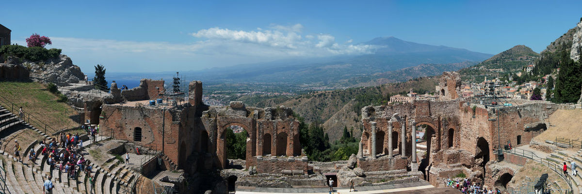 EyeEmNewHere Tree Outdoors Sky Day Mountain City No People Travel Photography Italy🇮🇹 Architecture History Sicilia Maxepersonalphoto Taormina And Etna Summer Building Exterior