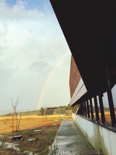 Sky Architecture Rainbow Built Structure Transportation Cloud - Sky Nature