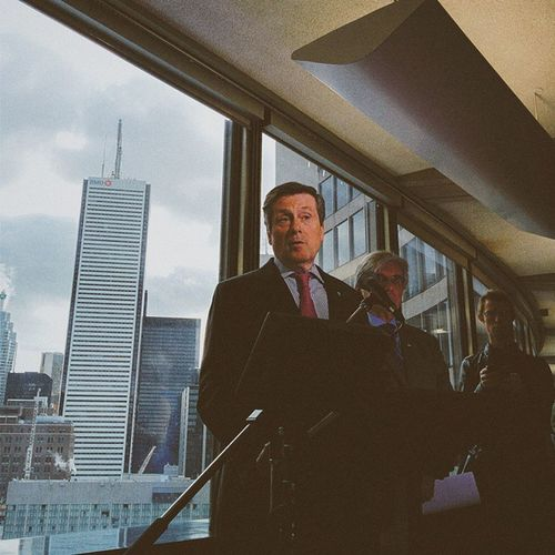 TBT  to earlier today when I snapped John Tory's press conference for @globeandmail Toronto TOpoli Vscocam photojournalism