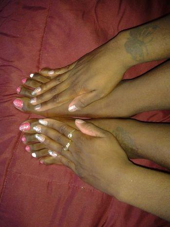 MyfeetareAmazing. Pinknails Glitter