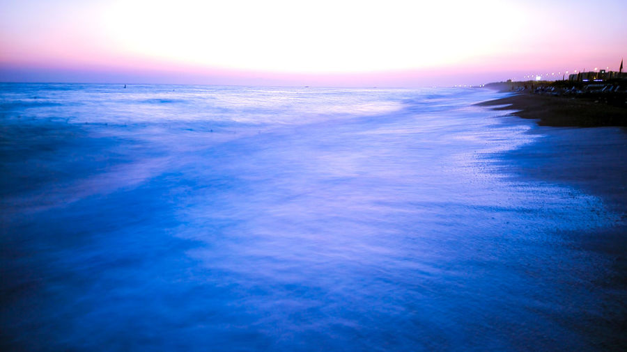 Sea Scenics Beauty In Nature Sunset Nature Sky Water Tranquility Blue Dramatic Sky Horizon Over Water Tranquil Scene Outdoors Cloud - Sky Awe Beach Reflection No People Summer Landscape