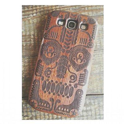 Finalmente mia! *ww* New Cover Legno Wood Woodcover Teschio  Skull Mexicanskull Happy Felice Troppofiga Soymix Phone Samsungphone Picoftheday Soymix