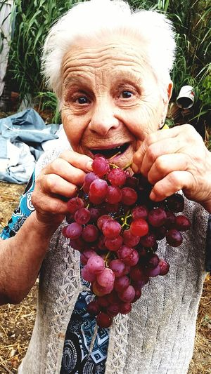 grandmather Italia Natura #photography Great Grandmother EyeNatureLover EyeNewHereEditorPic's EyeEm Gallery EyeEm Best Shots Wine moments Human Hand Portrait Looking At Camera Fruit Holding Flower Senior Adult Human Face Close-up Human Tongue Raspberry Growing Human Mouth This Is Strength EyeEmNewHere