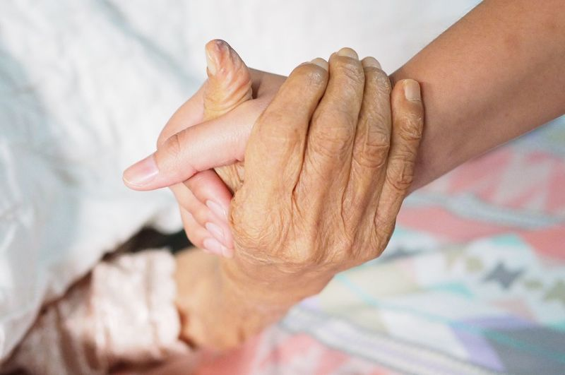 Powerful Love Family Old Hand Human Hand Human Body Part Senior Adult Wrinkled Senior Women Togetherness Real People People Adult Day Indoors  Women Bonding Human Skin Love Close-up Business Stories