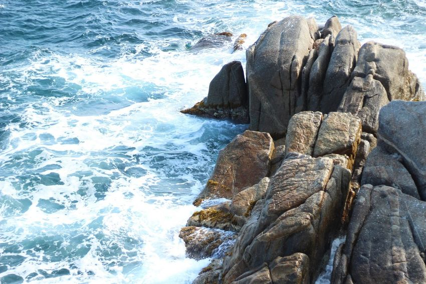 Sea Rock - Object Wave Water Rock Formation Nature No People Day Beauty In Nature Outdoors Motion Gironamenamora Costa Brava